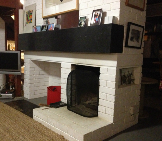 limestone fireplace mantle